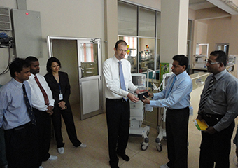 Donation of ventilators by SAGT